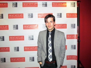 Mccaulay and CSI alumnus David DiLillo stands on the red carpet for a photo before heading to a private screening of his film Carnival Autumn