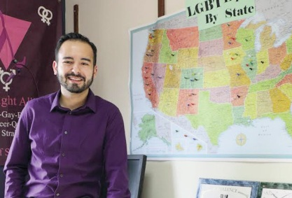 Coordinator of the LGBTQ Resource Center Jeremiah Jurkiewicz offers all students a safe place on campus to study and find resources pertaining to LGBTQ opportunities and events and is open to all students to utilize and ask questions.