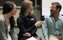Students from CSI's WSIA interview Scott Fried after his 90 minute lecture.