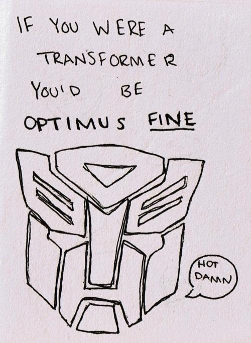 U0027valentines Transformers Pun Optimus Fineu0027
