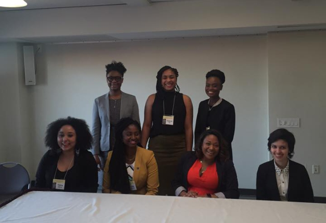 The CUNY Women's Award finalists gathered for a photo op at the Brooklyn College Student Center. Source: Facebook/Andrea Dalzell