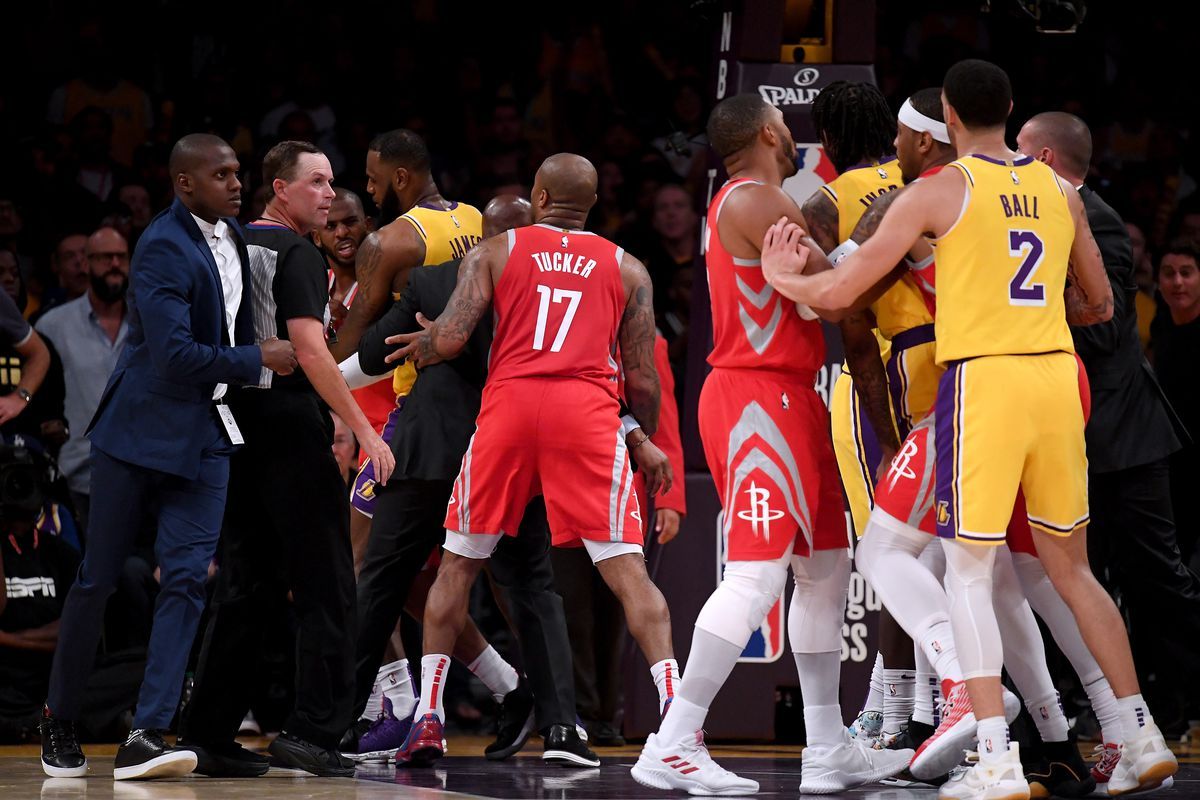 Rockets vs Lakers Brawl Ends in Suspensions and Attacks ...